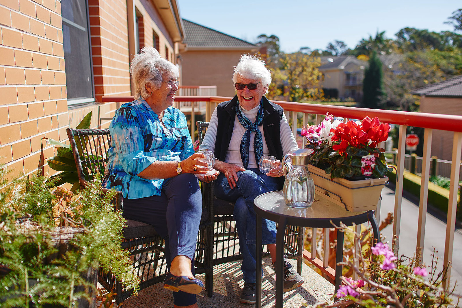 Aged care residents at home